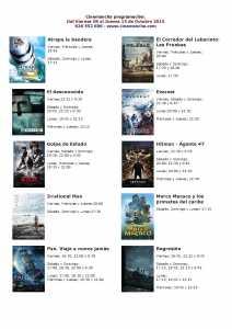 cartelera de cinemacha del 09 al 15 de octubre