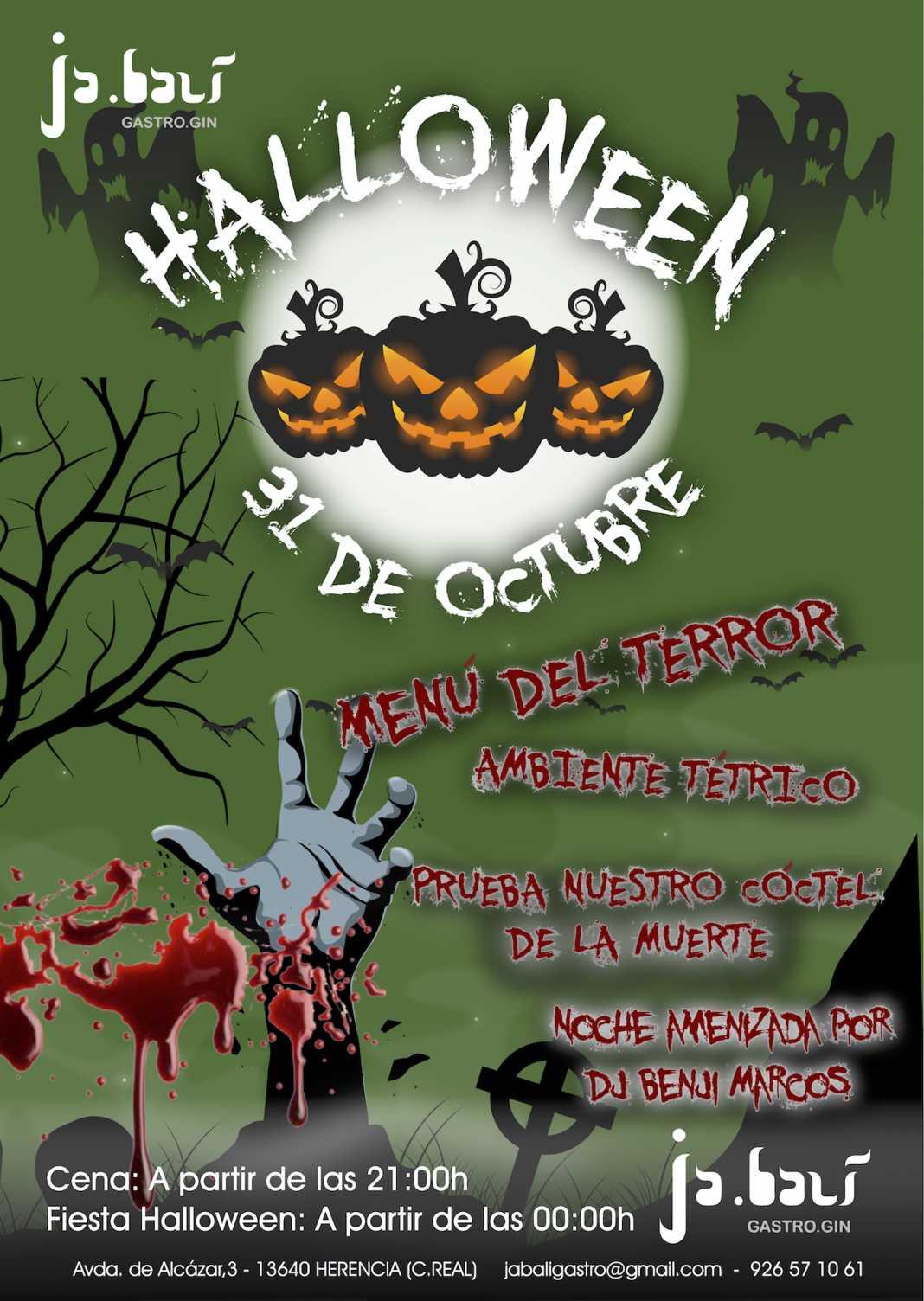 noche de halloween en jabali gastro 1068x1504 - Noche de Halloween en Jabalí Gastro el día 31 octubre