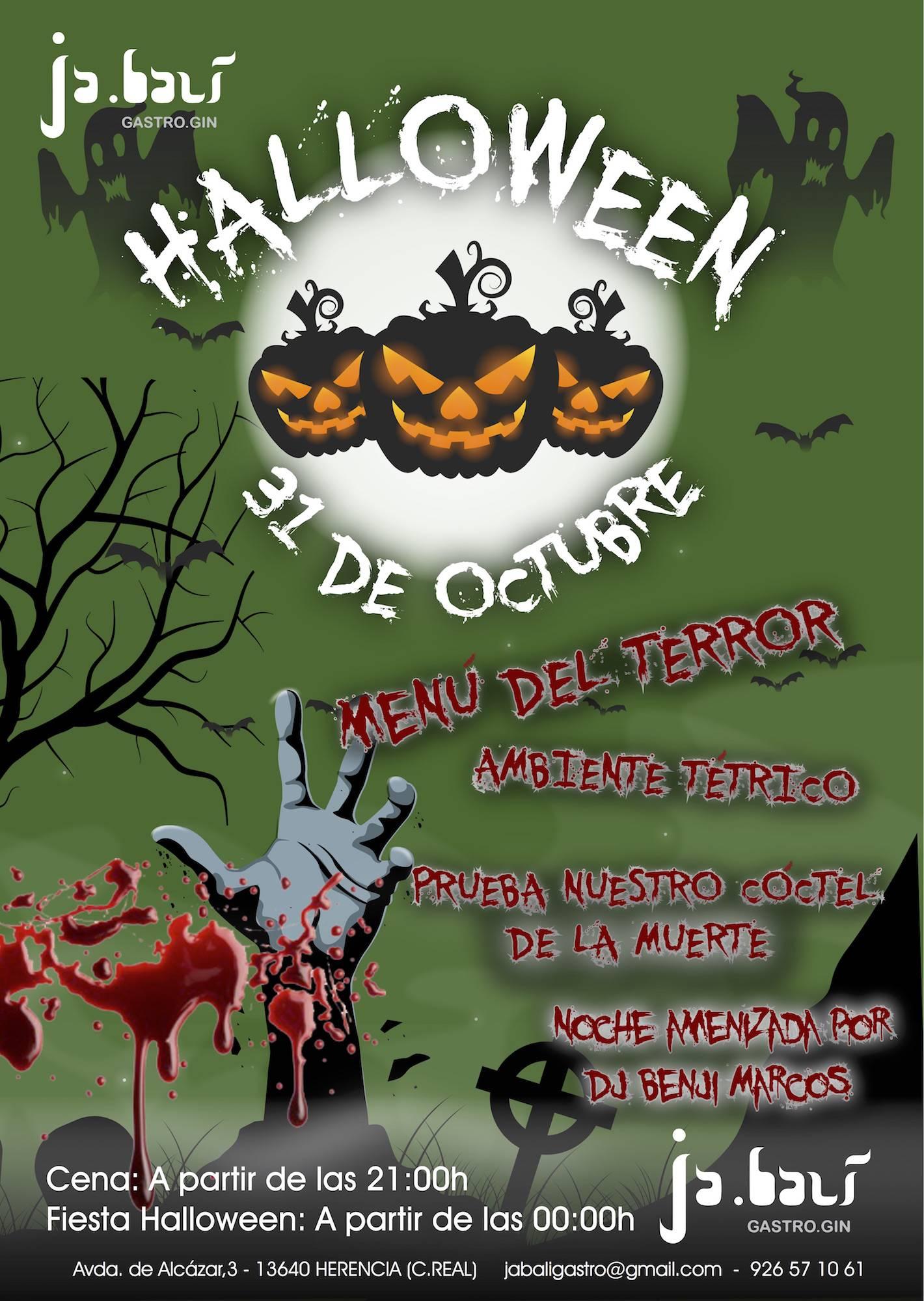 noche de halloween en jabali gastro - Noche de Halloween en Jabalí Gastro el día 31 octubre
