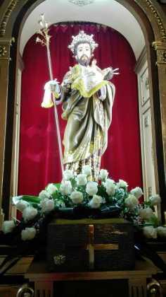 Aspecto del retablo de la ermita san Jose tras su restauración 236x420 - Aspecto del retablo de san José tras su restauración