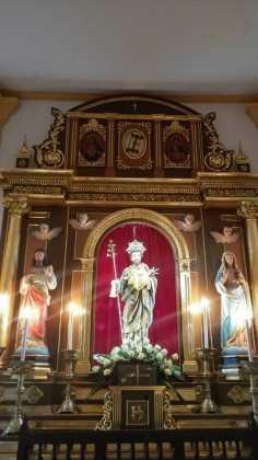 Aspecto del retablo de la ermita san Jose tras su restauracion1 236x420 - Aspecto del retablo de san José tras su restauración