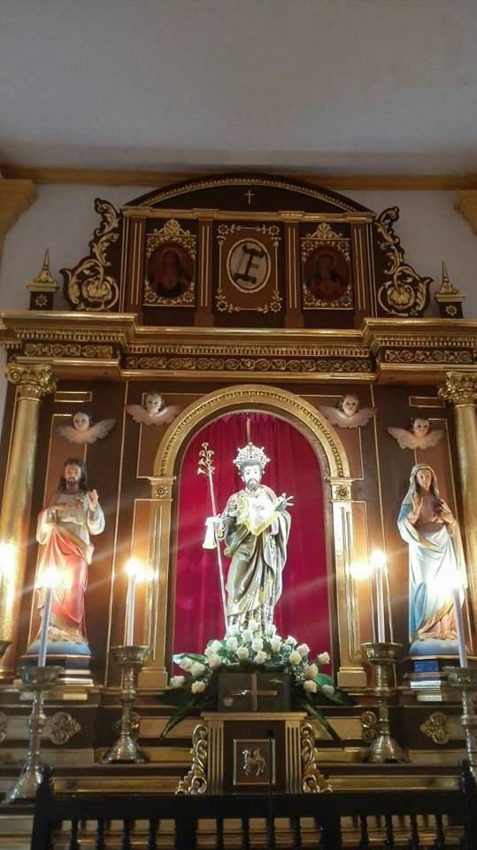 Aspecto del retablo de la ermita san José tras su restauración