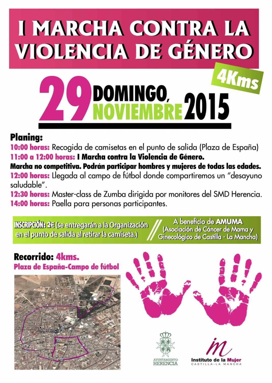 I Marcha contra la Violencia de Género en Herencia 1