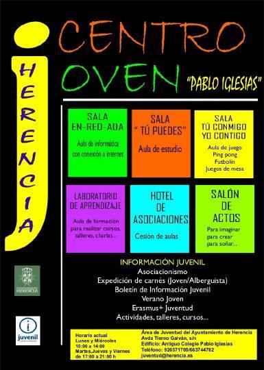 Cartel informativo Centro Joven 2 - Nace el Centro Joven Pablo Iglesias