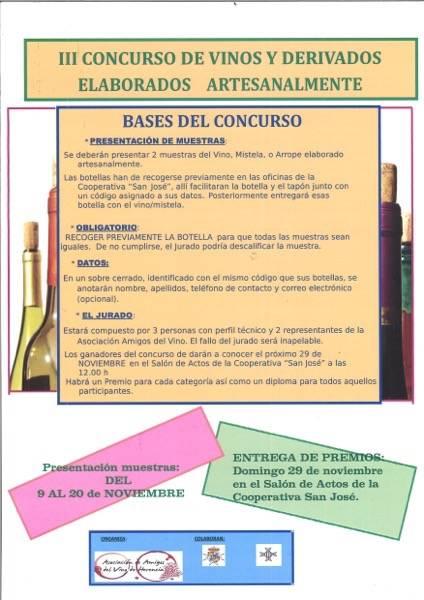 III concurso de vinos y derivados elaborados artesanalmente de Herencia