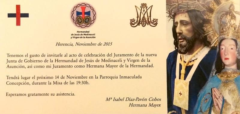 Juramento de la nueva junta de gobierno de la Hermandad de Jesús de Medinaceli 1