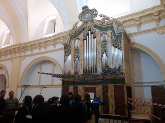 Misa de bendicion de los trabajos de restauracion y reconstruccion del organo barroco de Herencia 560x420 - El órgano barroco de Herencia vuelve a sonar 75 años después
