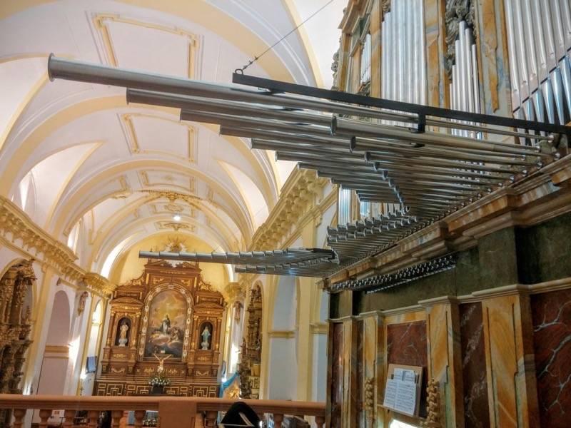 Misa de bendicion de los trabajos de restauracion y reconstruccion del organo barroco de Herencia 6 - Un grupo de Madrid visitará el órgano histórico parroquial