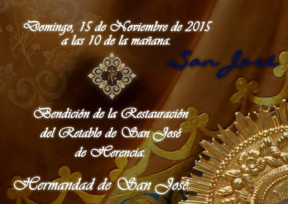 Restuaracion retablo ermita de san jose de Herencia - La hermandad de san Jose restaura su retablo y dona alimentos a Cáritas