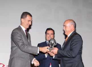 Rey Felipe y Antonio Ramirez de Tecnove Security en Herencia
