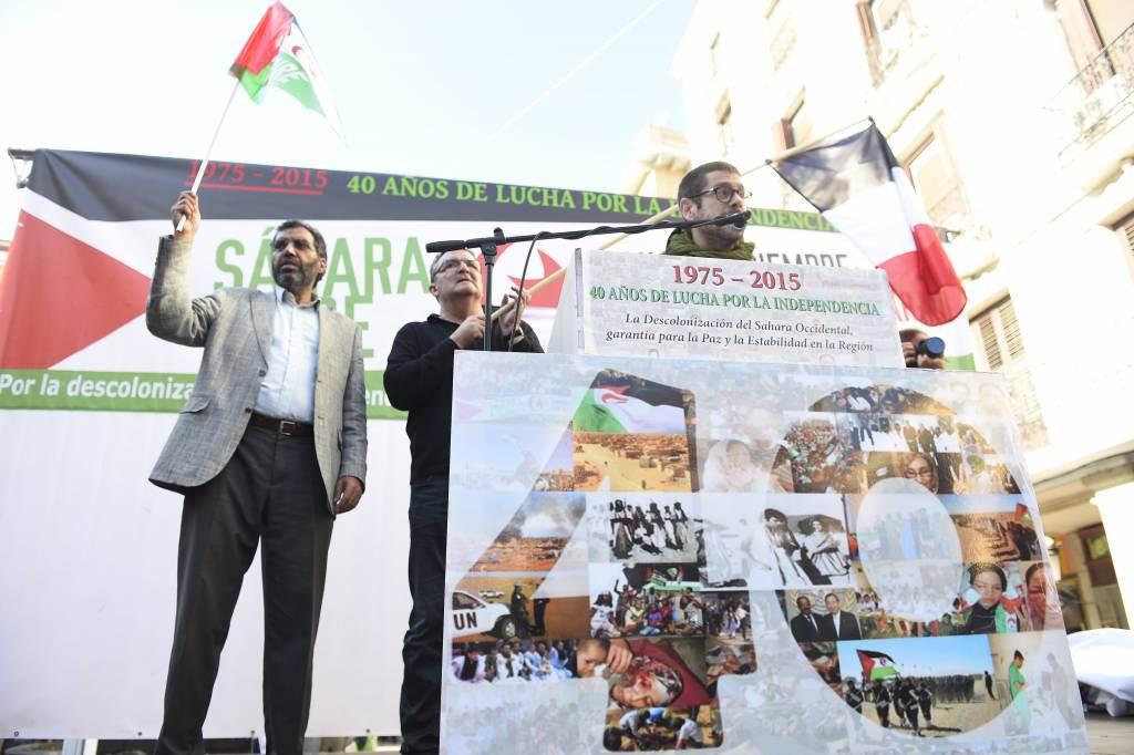 Decenas de herencianos reivindican en Madrid el derecho a la autodeterminación y la independencia del pueblo saharaui 1
