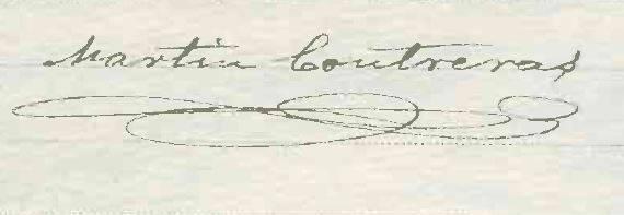 Firma de Martín Contreras