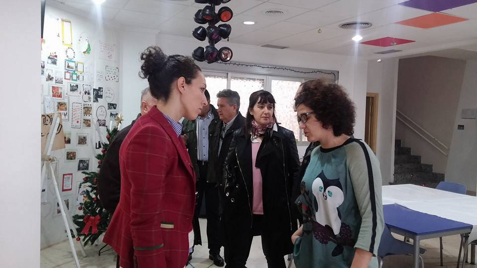 Cristina Molina (PP) visita el centro Carpe Diem de Herencia 1