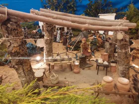 Belen de Juan Sanchez Aguilera14 560x420 - Muestra de belenes populares de Herencia. Fotogalería