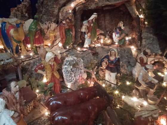 Belen de Maria Gema Gallego de la Sacristana2 560x420 - Muestra de belenes populares de Herencia. Fotogalería