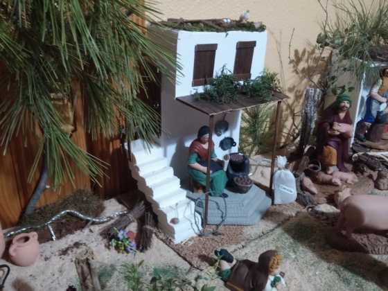Belen de Maria Isabel Vidal07 560x420 - Muestra de belenes populares de Herencia. Fotogalería