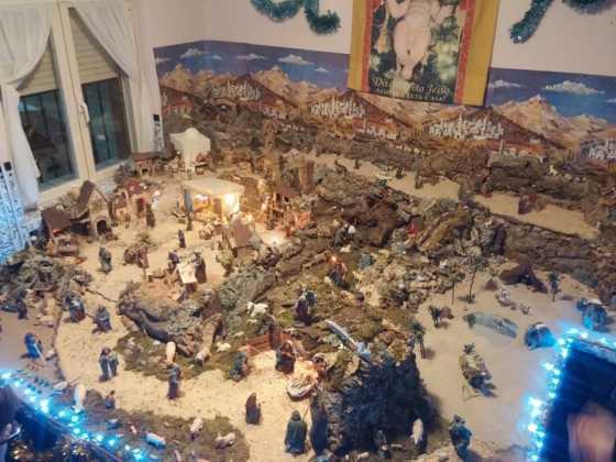 Belen familia Gallego de la Sacristana Glez Ortega02 560x420 - Muestra de belenes populares de Herencia. Fotogalería