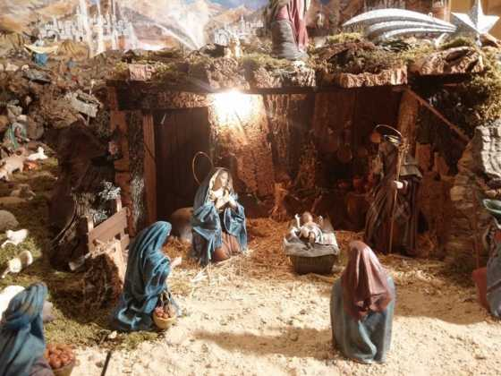 Belen familia Gallego de la Sacristana Glez Ortega05 560x420 - Muestra de belenes populares de Herencia. Fotogalería