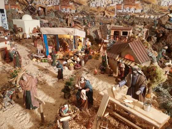 Belen familia Gallego de la Sacristana Glez Ortega09 560x420 - Muestra de belenes populares de Herencia. Fotogalería