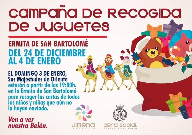 Campaña de recogida de juguetes ermita de san Bartolome - Campaña de recogida de juguetes y visita de los Reyes Magos en la ermita de San Bartolomé