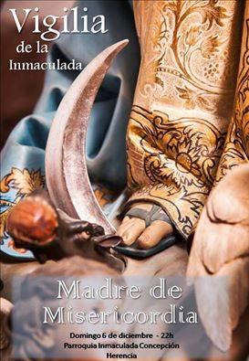Cartel Vigilia de la Inmaculada Concepcion en Herencia - Fotografías y vídeos de las fiestas de la Inmaculada Concepción