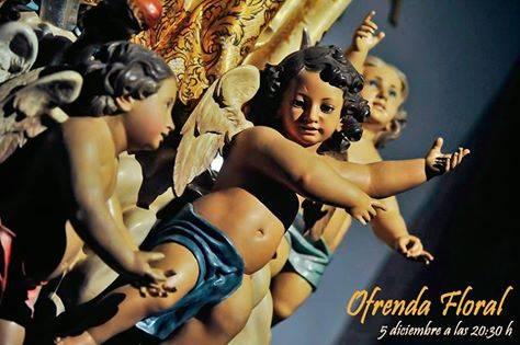 Cartel ofrenda floral a la Inmaculada Concepcion de Herencia - Fotografías y vídeos de las fiestas de la Inmaculada Concepción