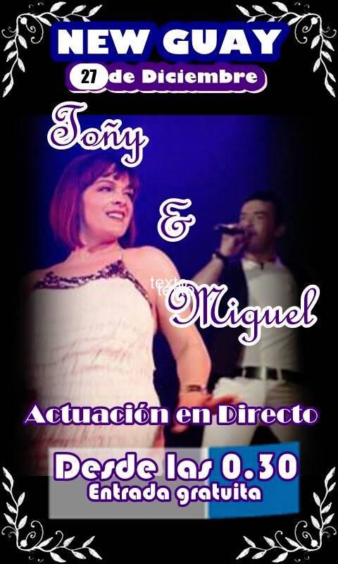 Toñi y Miguel en concierto estas navidades en New Guay 1