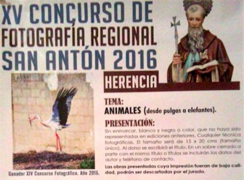 Concurso de fotografia de San Anton en Herencia - Convocado el XV concurso de fotografía regional San Antón 2016