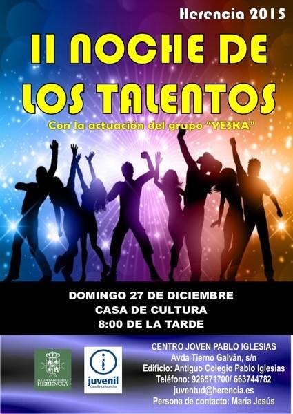 II Noche de los Talentos de Herencia - Todo preparado para celebrar la II Noche de los Talentos de Herencia