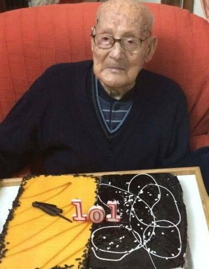 Juan Antonio Mora cumple 101 años 1