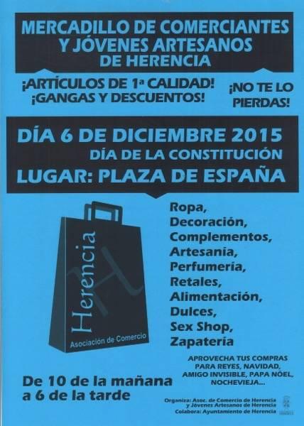 Mercadillo de comerciantes Herencia 2015