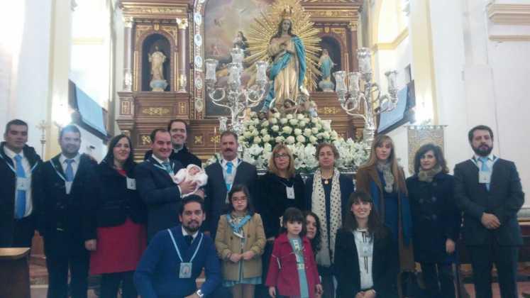 Miembros de la Hermandad de la Inmaculada Fotografia de Juan Sanchez Aguilera 747x420 - Fotografías y vídeos de las fiestas de la Inmaculada Concepción
