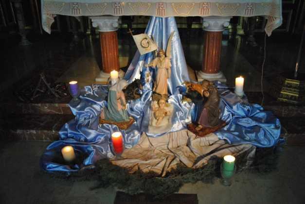 Nacimiento convento de La Merced foto de Jose Maria Sanchez Aguilera 2 627x420 - Muestra de belenes populares de Herencia. Fotogalería