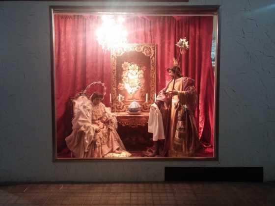 Nacimiento de Floristeria Aragar02 560x420 - Muestra de belenes populares de Herencia. Fotogalería