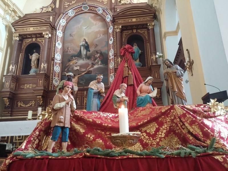 Nacimiento de la parroquia Inmaculada Concepcion01 - Muestra de belenes populares de Herencia. Fotogalería