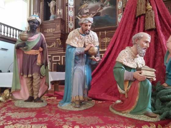 Nacimiento de la parroquia Inmaculada Concepcion03 560x420 - Muestra de belenes populares de Herencia. Fotogalería