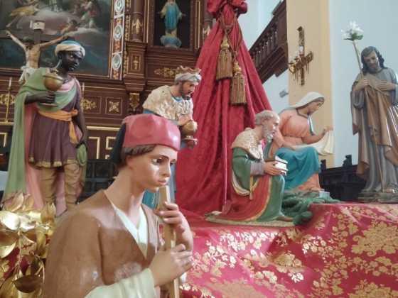 Nacimiento de la parroquia Inmaculada Concepcion05 560x420 - Muestra de belenes populares de Herencia. Fotogalería