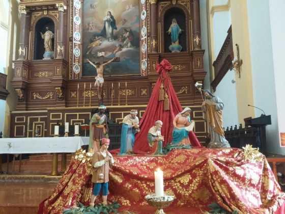 Nacimiento de la parroquia Inmaculada Concepcion06 560x420 - Muestra de belenes populares de Herencia. Fotogalería