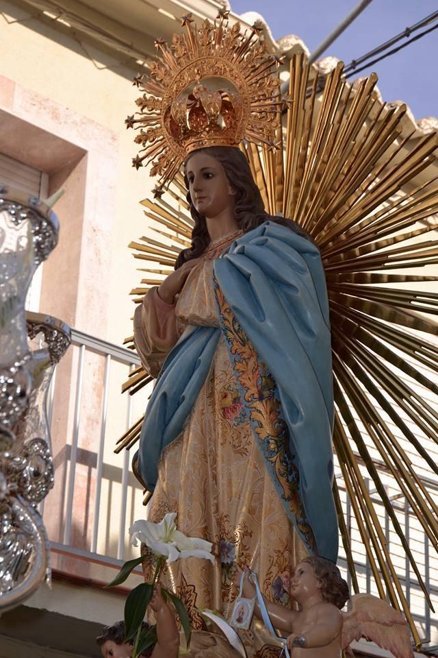 Procesión de la Inmaculada Concepción de Herencia 2015. Fotografía de Carmen Ramos