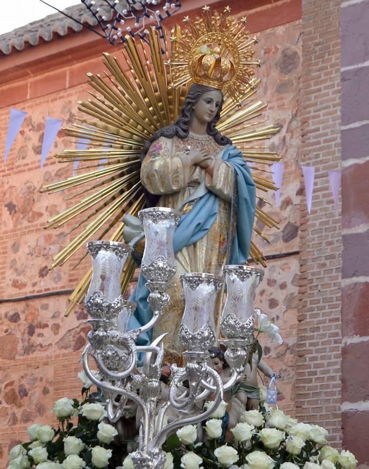 Procesion de la Inmaculada Concepci%C3%B3n de Herencia8 fotografia de Carmen Ramos - Actos de las fiestas patronales 2018 en honor a la Inmaculada Concepción