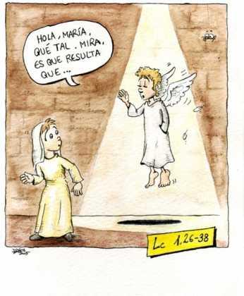Anunciaci%C3%B3n 346x420 - Postales navideñas de Jesús Cobos Abengoza