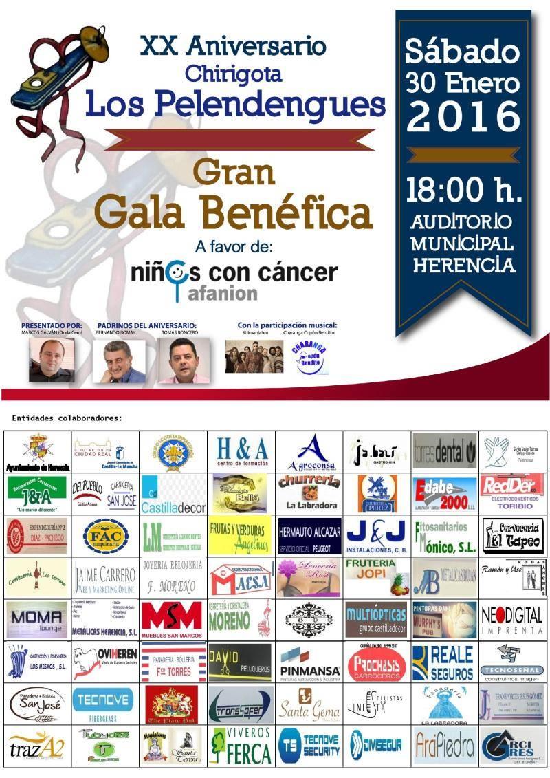 CARTEL PELENDENGUES 2016 1 page 001 - Romay, Marcos Galván y Tomás Roncero en la Gala XX Aniversario de Los Pelendengues