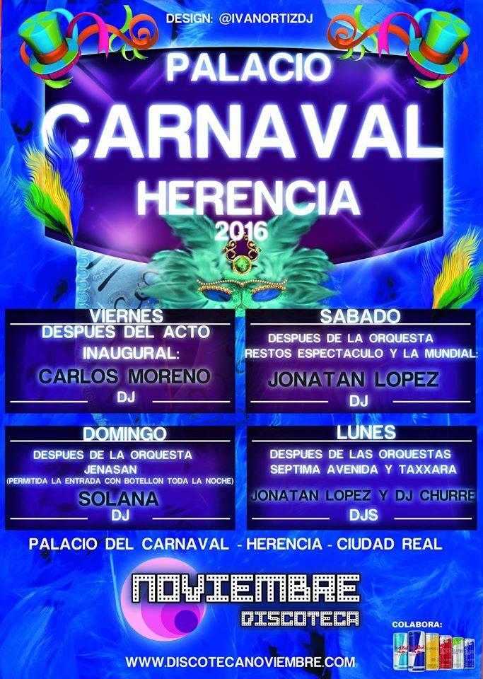 Discoteca Noviembre gestionará la barra del palacio del Carnaval 1