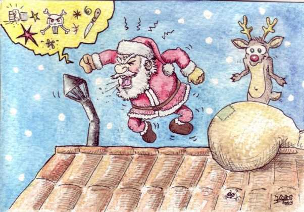 Pap%C3%A1 Noel 602x420 - Postales navideñas de Jesús Cobos Abengoza