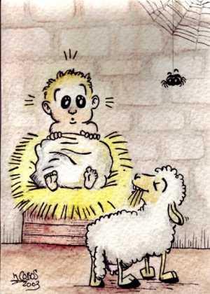 Pesebre 300x420 - Postales navideñas de Jesús Cobos Abengoza