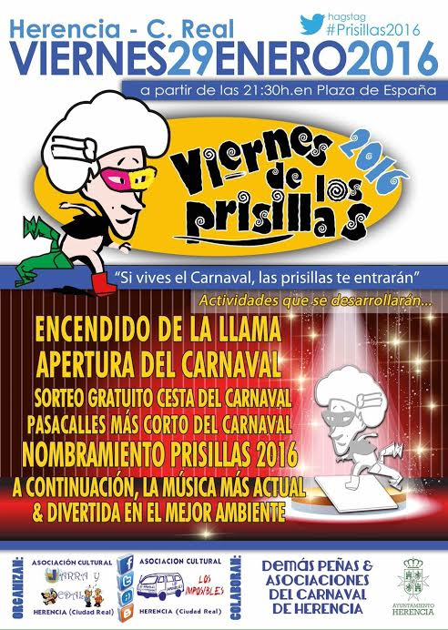 Viernes de los Prisillas Carnaval de Herencia - Todo preparado para celebrar el Viernes de los Prisillas 2016