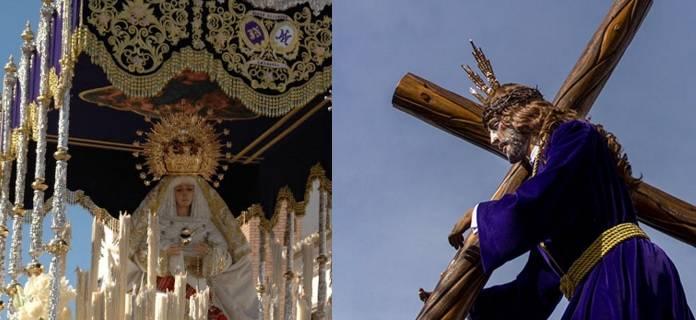 Virgen de la Amargura y Nazareno de Los Moraos - Procesiones de la Semana Santa de Herencia. Horarios y recorridos