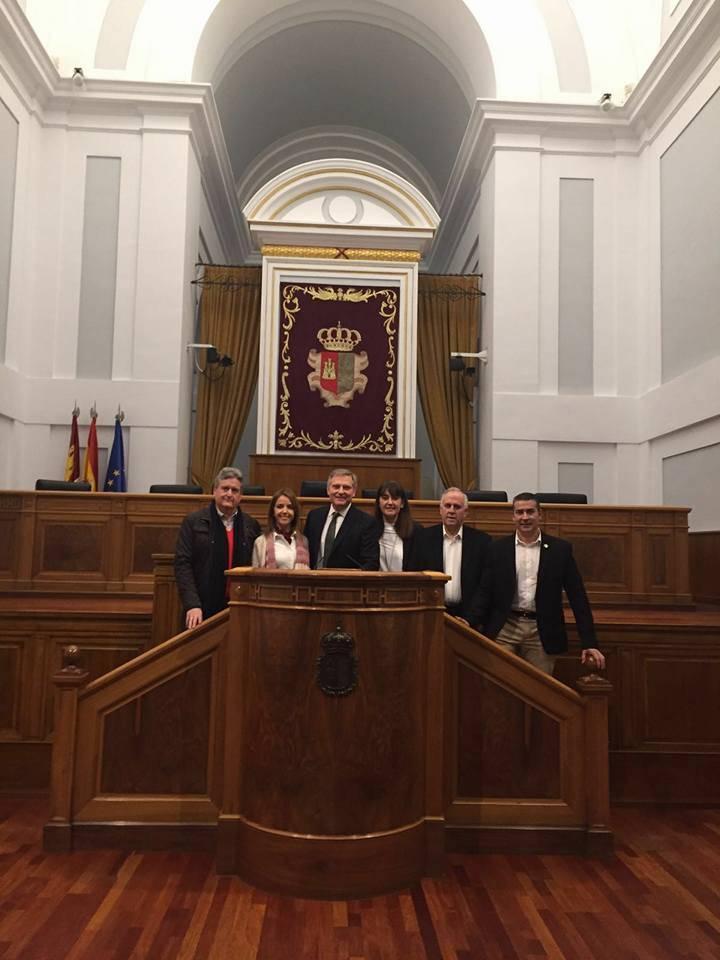 concejales del partido popular de Herencia en Toledo - Visita de los concejales populares de Herencia a las Cortes Regionales