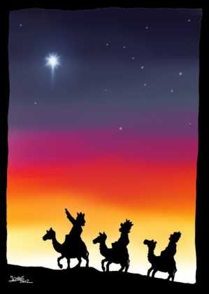 estrella 299x420 - Postales navideñas de Jesús Cobos Abengoza