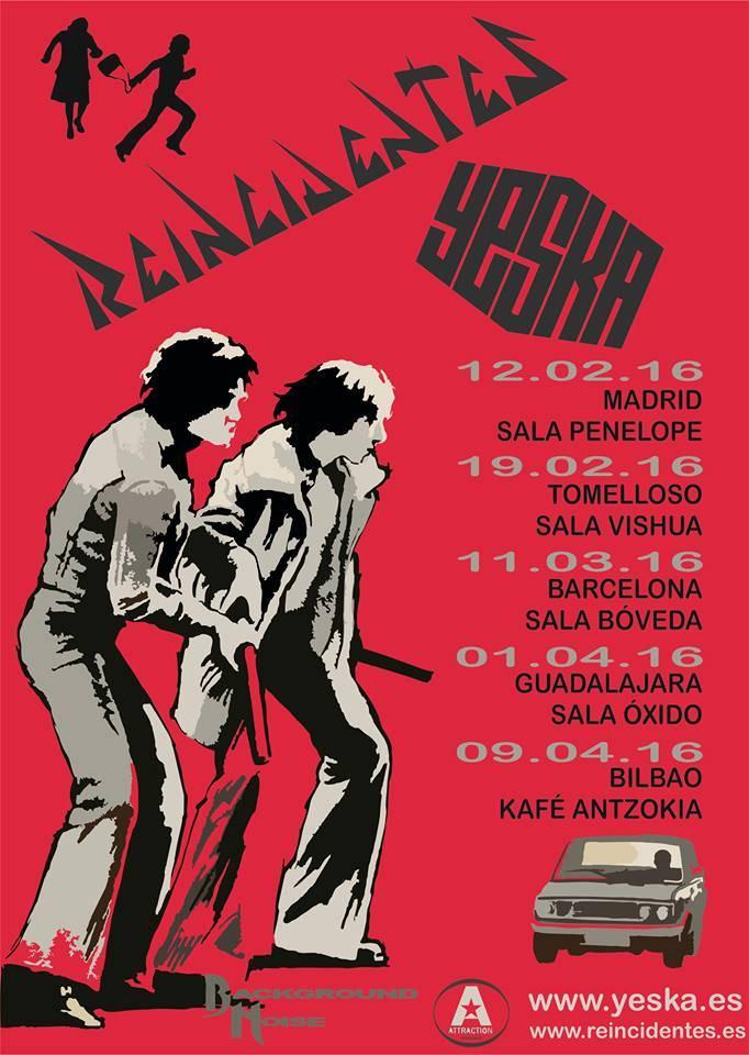 gira Yeska y Reincidentes - Yeska inicia una gira nacional con Reincidentes